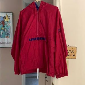 Umbro running suit pink sizeL top and size M pants
